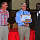 KAFTC The Kampala Aeroclub and Flight Training Centre (KAFTC) receiving their Going Neutral certificate from UCB during a press conference at Grand Imperial Hotel on 18th July, 2012.